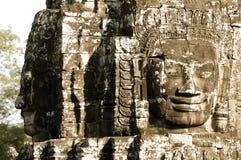 Framsidor av Angkor Royaltyfri Foto