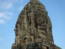 Framsidor av Bayon tample Ankor Wat cambodia Arkivfoton