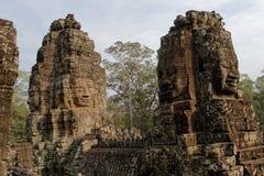 1000 framsidor av Buddhatempel i Bayon Royaltyfria Foton