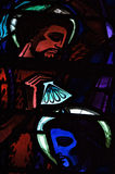 Framsidor av Jesus Stained Glass Window Arkivbild