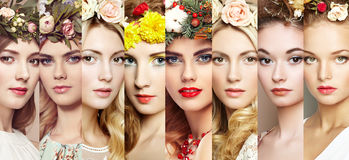 Framsidor av kvinnor Framsidor av kvinnor Royaltyfri Foto