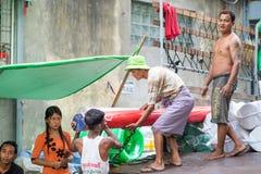 Framsidor av Myanmar Arkivfoto
