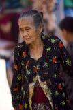 Framsidor för gamla kvinnor Arkivbild