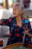 Framsidor för gamla kvinnor Arkivbilder