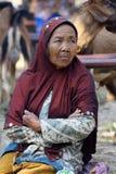 Framsidor för gamla kvinnor Arkivfoto