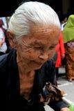 Framsidor för gamla kvinnor Royaltyfri Fotografi