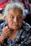Framsidor för gamla kvinnor Fotografering för Bildbyråer