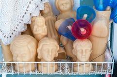 Framsidor som göras av vaxet Royaltyfria Bilder