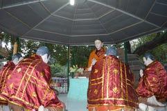 Framställning av Buddha första predikan Royaltyfria Bilder