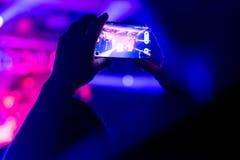 Framställning av film med smartphonen fotografering för bildbyråer