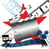 framställning av filmer stock illustrationer
