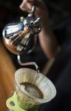 Framställning av kaffe Royaltyfri Bild