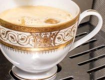 Framställning av kaffe Arkivfoto
