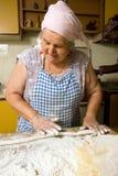 framställning av pasta Royaltyfri Foto
