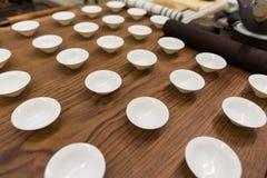 framställning av set tea Arkivfoton