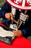 framställning av silverwaren Royaltyfri Fotografi