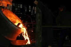 framställning av stål Arkivfoto