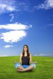 framställning av yoga royaltyfri fotografi