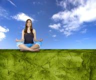 framställning av yoga royaltyfria bilder
