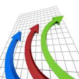 Framstegrapporten föreställer affärsgrafen och analys Arkivfoton