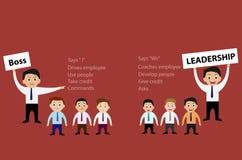 Framstickande och ledarskap av affärsidéen stock illustrationer