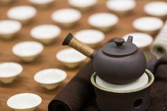 framställning av set tea Fotografering för Bildbyråer