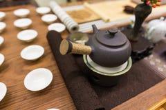 framställning av set tea Royaltyfri Foto