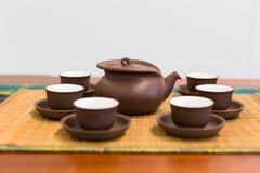 framställning av set tea Royaltyfri Fotografi