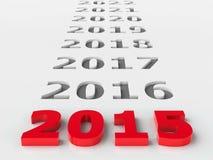 framtid 2015 vektor illustrationer