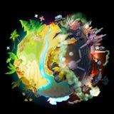 Framtid av vår jord, ekologiskt begrepp för vektor royaltyfri illustrationer