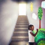 Framtid för barn royaltyfri fotografi