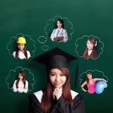 Framtid för doktorandkvinnafunderare Royaltyfri Foto