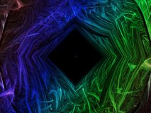 Framtid för inspiration för abstrakt utsmyckad bakgrund för fractalmakt digital härlig Arkivfoton