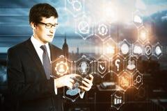 Framtid och innovationbegrepp Arkivfoto