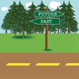 framtid past vektor illustrationer