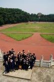 framtida avläggande av examenhälsningar för dag Arkivfoto