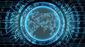 Framtida bakgrund för teknologiCyberbegrepp askfat också vektor för coreldrawillustration royaltyfri illustrationer