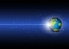 Framtida digital global teknologi Fotografering för Bildbyråer