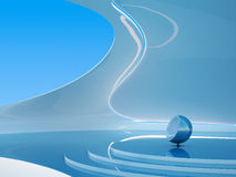 framtida futuristic inre serie för copyspace Royaltyfri Fotografi