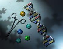 framtida genetik Royaltyfri Illustrationer