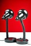 framtida lampor som ser två Royaltyfri Foto