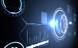 framtida manöverenhet Digital beståndsdelar Arkivfoto