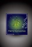 Framtida neo trädblått för jul royaltyfri foto
