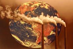 framtida olycklig värld Arkivbilder