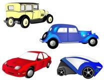 framtida past present för bilar royaltyfri illustrationer