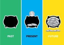 framtida pengarsparande vektor illustrationer