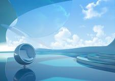 framtida penthouse Fotografering för Bildbyråer