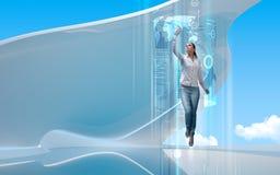 framtida portal till Royaltyfri Bild