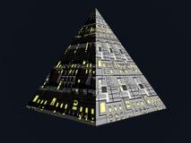 framtida pyramid stock illustrationer
