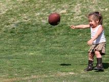 framtida quarterback Arkivfoton